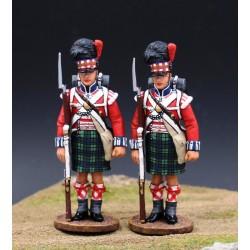 2 fusiliers, 42e régiment d'infanterie Britannique, Gordon Highlanders