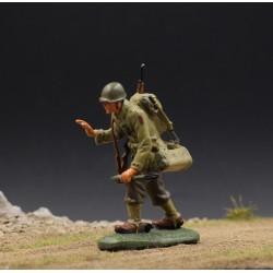 Soldat d'infanterie Américain, chargeur d'un bazooka, 1944-1945