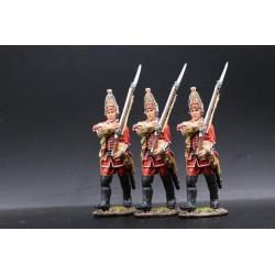 3 grenadiers du 35e régiment d'infanterie Britannique, 1759