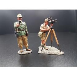 Correspondant de guerre Allemand et son cameraman, Afrika Korps 1941-1943