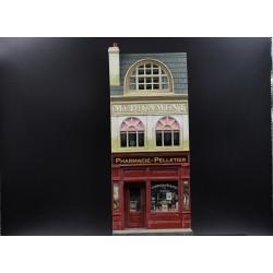 """Décors-dioramas, """"La pharmacie PELLETIER"""" - Village de Normandie -1944"""