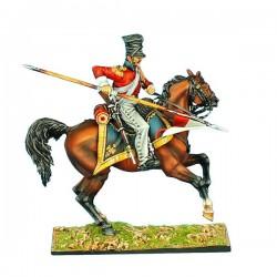Chevau-léger lancier Hollandais à la charge, garde impériale Française