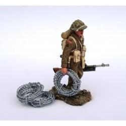 Décors-dioramas, ensemble de 4 rouleaux de barbelés