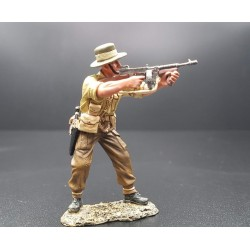 Officier des gurkhas Népalais, armée Britannique, Singapour-Malaisie 1941-1942