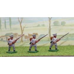 3 fusiliers d'infanterie de la ligne Prussiens