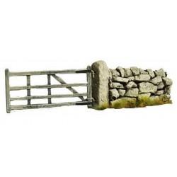Muret et barrière agricole pour dioramas