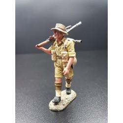 Soldat d'infanterie Australien en patrouille, 8th army Britannique