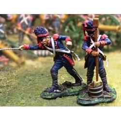 2 artilleurs à pied, garde impériale Française en action 1