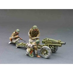 Pack Howitzer 75mm parachutiste, artilleur, bataille des Ardennes, 1944-1945