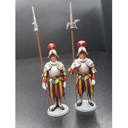 2 gardes Suisses Papaux, Vatican
