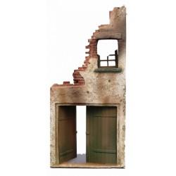 Décors-dioramas, Ruines d'une maison de ville, avec porte de garage