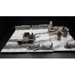 """Décor-diorama, """"Ardennes, hiver 1944-1945"""