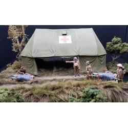 Tente d'un hôpital militaire régimentaire de campagne, 20e siècle