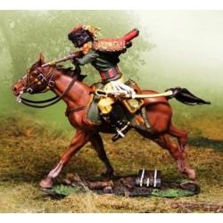 Chasseur à cheval, garde impériale Française, à la charge, tirant