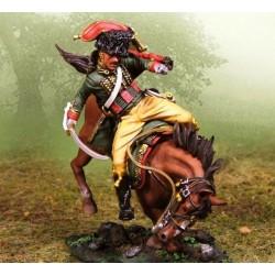 Chasseur à cheval, garde impériale Française, tombant, blessé