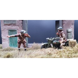 Policier militaire motocycliste Britannique, Normandie été 1944