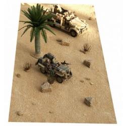 Décors-dioramas, Tapis-décor, paysage de désert de sable