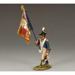 Officier porte-aigle, régiment d'infanterie de la ligne Français, 1804-1815