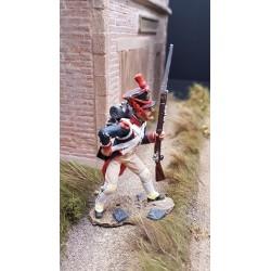 Fusilier d'infanterie de la ligne Français, rechargeant