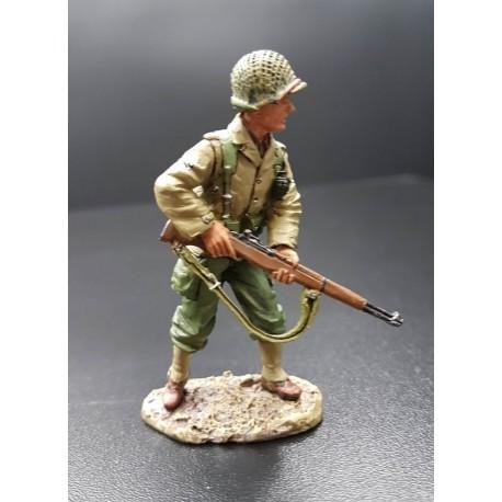Soldat d'infanterie Américain, 3e division, au combat, Normandie 1944