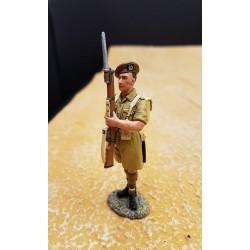 Gordon highlander Ecossais au présenter-armes, TEL EL KEBIR, 1942, Afrique du nord