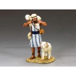 Berger Palestinien avec 2 moutons, Bethléem