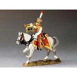 Trompette des chevau-légers lanciers dits Hollandais, 1er empire