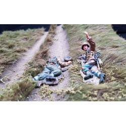 2 panzergrenadiers Allemands au combat, Normandie 1944