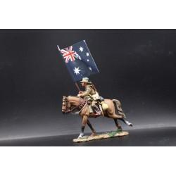 Porte-drapeau, cavalerie Australienne, Bersheeba, Palestine , 1917 n°2