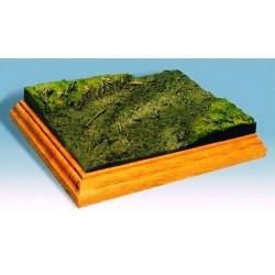 Socle-base diorama avec sol boueux 17 cm x 13 cm
