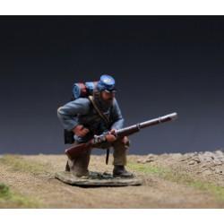 """Soldat d'infanterie Américain confédéré, """"sudiste"""", en attente"""