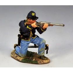 """Soldat d'infanterie Américain de l'Union, """"nordiste"""", tirant au fusil"""