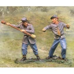 "2 artilleurs, Etats Confédérés, ""sudistes"", 1861-1865, guerre de sécession n°2"