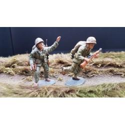 2 US marines Américains, au combat, 1942-1945 Pacifique