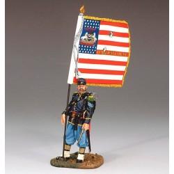 """Porte-drapeau d'infanterie Américaine, Union, """"nordiste"""", 1861-1865"""
