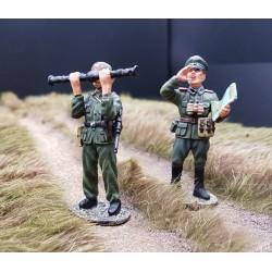 Officier et sous-officier d'artillerie Allemand, avec télémètre WW2