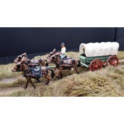Chariot d'approvisionnement Nordiste, guerre de sécession 1861-1865