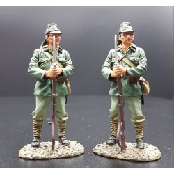 2 soldats d'infanterie de marine Japonais, Pacifique 1937-1945, à la garde