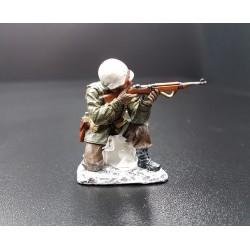 Officier d'infanterie Américain, Ardennes-Bastogne, hiver 1944-1945, carabine USM1