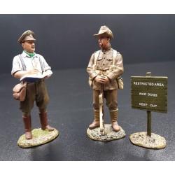 Sir Muirhead BONE, aquarelliste, peignant un soldat d'infanterie Australien, WW1