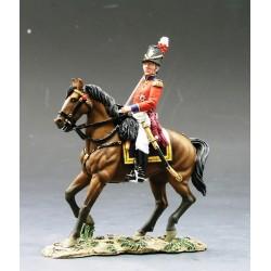Officier, fusiliers d'infanterie de la ligne Britannique, à cheval