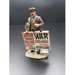 Vendeur de journaux, déclaration de guerre, 1939