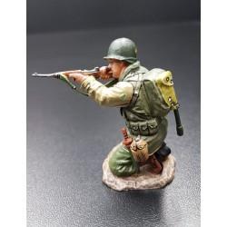 Soldat d'infanterie Américain au combat, Normandie, été 1944