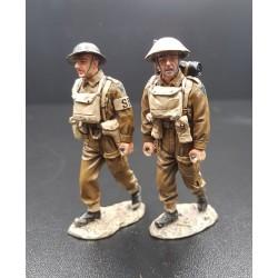 2 brancardiers, infanterie Britannique, Belgique-France 1940