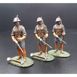 3 archers Anglais, moyen-âge, XIIIe siècle