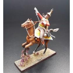 Dragon Britannique Inniskilling à la charge, blessé, 1804-1815