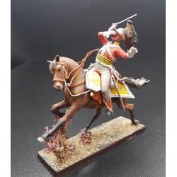 Dragon Britannique Inniskilling à la charge, blessé, 1804-1815 n°2