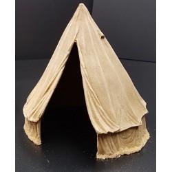 """Tente militaire de campagne dite """"Bell tente"""", couleur écrue-blanche, 20e siècle"""