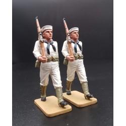 2 fusiliers-marins Américains, Yang Tse, Chine, 1926