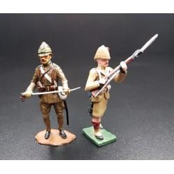 Officier d'infanterie et fusilier du 42e Black Watch highlanders, Afrique